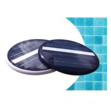 Foco LED piscina solar blanco