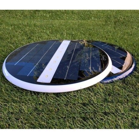 Kit 2 Focos LED piscina solar blanco