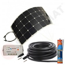 Kit solar caravana 100W panel flexible