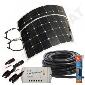 Kit solar caravana 200W panel flexible