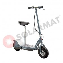 Patinete Eléctrico E300 Electric Scooter Matte Gray con sillín