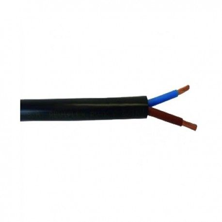Metro manguera flexible RV-K 0,6/1kV negra 2x1,5mm2