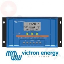 Regulador de Carga Victron BlueSolar PWM-LCD&USB 20A, 12/24V Display LCD Digital