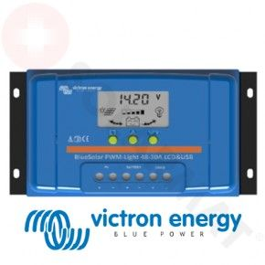 Regulador de Carga Victron BlueSolar PWM-LCD&USB 10A, 48V Display LCD Digital