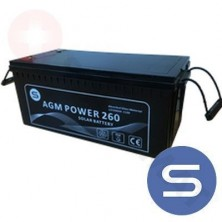 Bateria SCL Power Monoblock AGM Regulated Lead-Acid 12V 260Ah C100