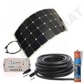 Kit solar caravana 110W panel flexible